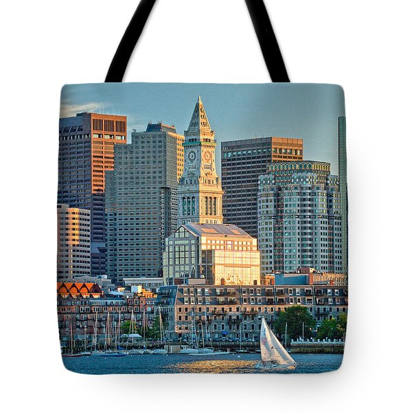 Boston Sunset Sail Tote Bag
