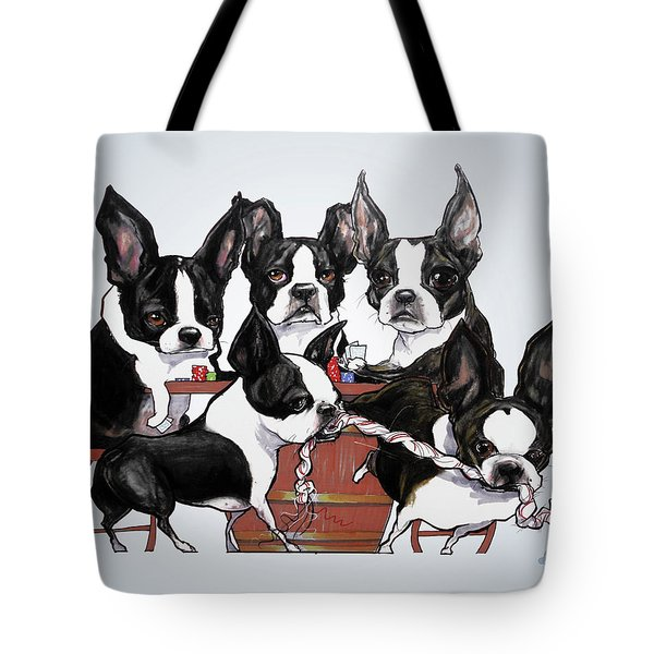 Boston Terrier - Dogs Playing Poker Tote Bag