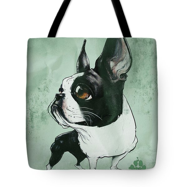 Boston Terrier - Green  Tote Bag