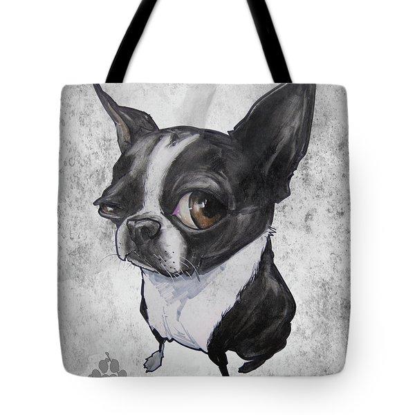 Boston Terrier - Grey Antique Tote Bag