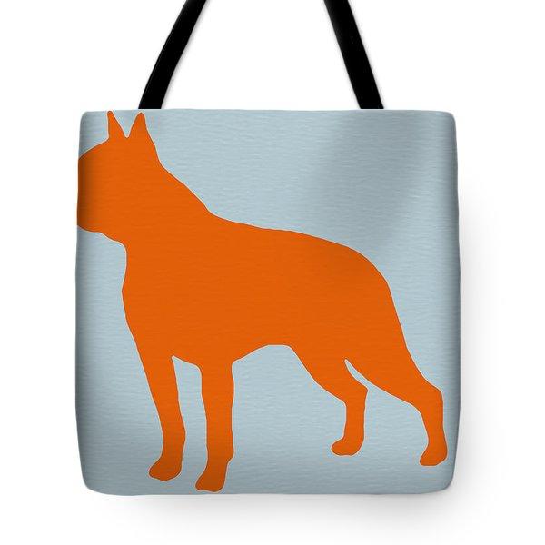 Boston Terrier Orange Tote Bag by Naxart Studio