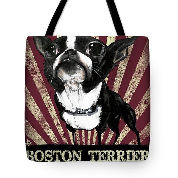 Boston Terrier Revolution Tote Bag