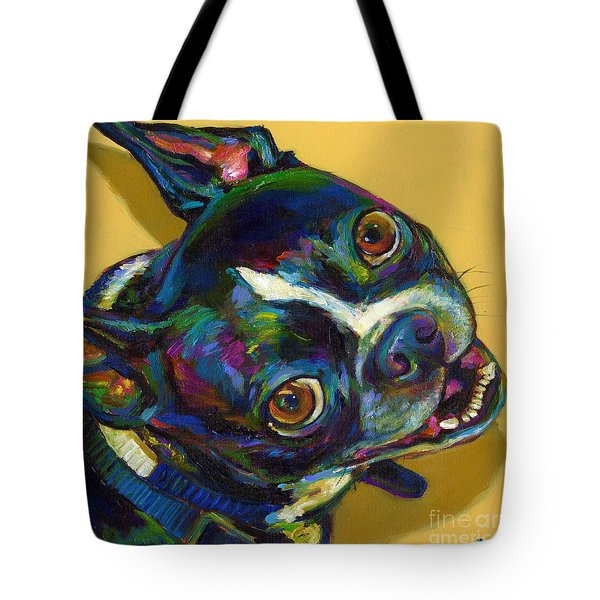 Tote Bag featuring the digital art Boston Terrier by Robert Phelps