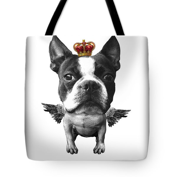 Boston Terrier, The King Tote Bag