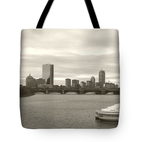 Tote Bag featuring the photograph Boston View by Raymond Earley