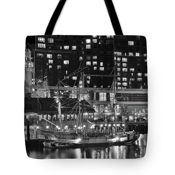 Tote Bag featuring the photograph Bostonian Black And White by Frozen in Time Fine Art Photography