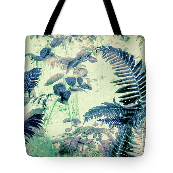 Tote Bag featuring the mixed media Botanical Art - Fern by Bonnie Bruno