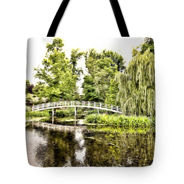 Tote Bag featuring the photograph Botanical Bridge - Monet by Anthony Baatz