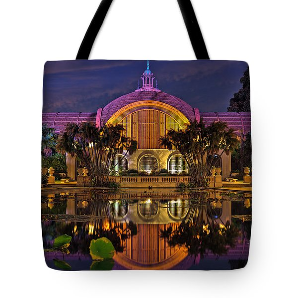 Botanical Building At Night In Balboa Park Tote Bag