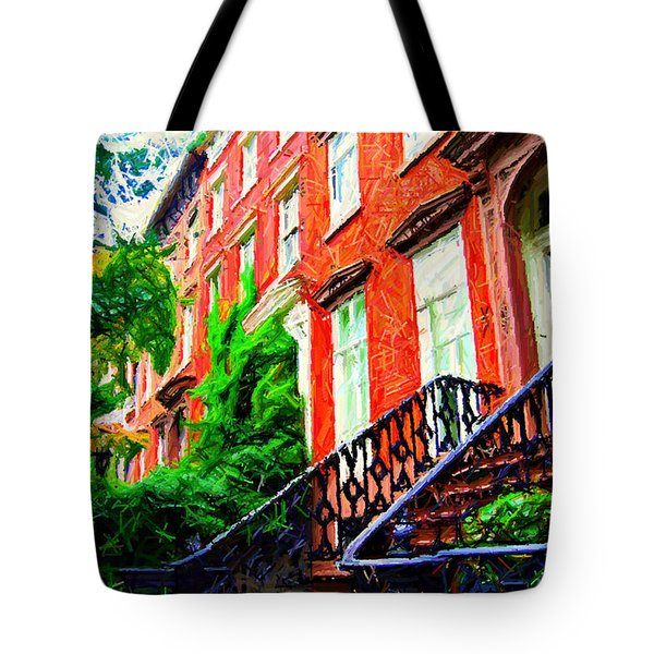 Botanical Village Sketch Tote Bag by Randy Aveille