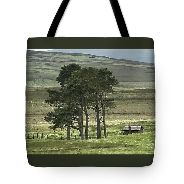 Bothy Scottish Highlands Tote Bag by Sally Ross