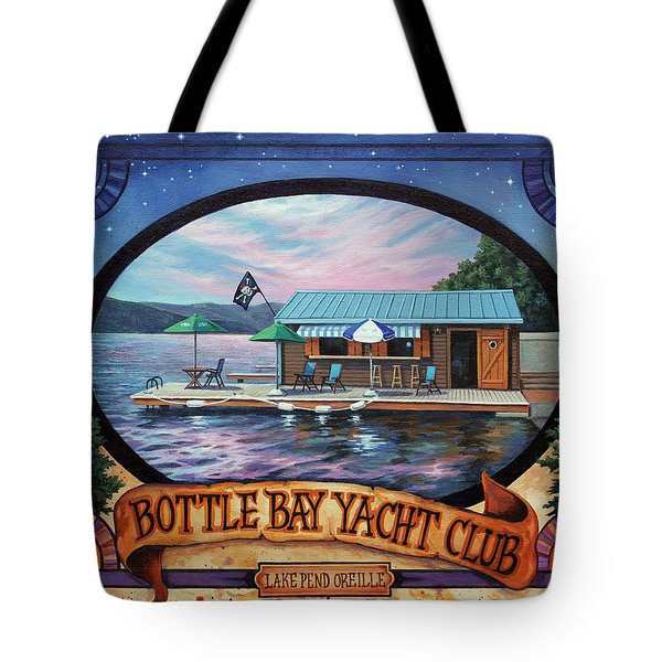 Bottle Bay Yacht Club Tote Bag