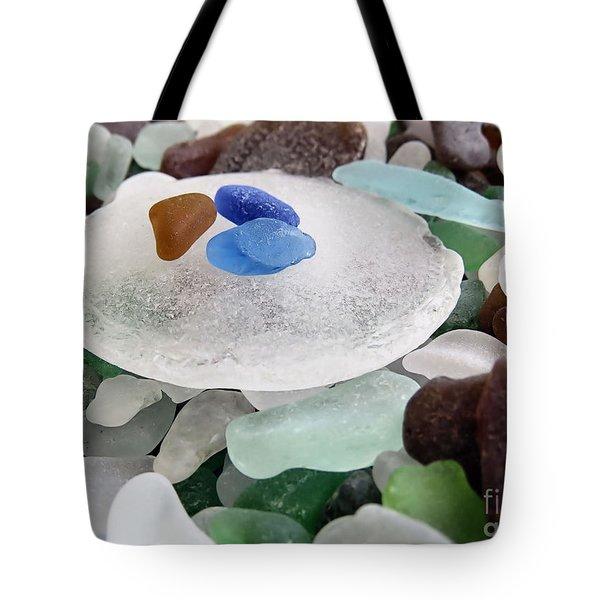Bottle Bottom Sea Glass Tote Bag