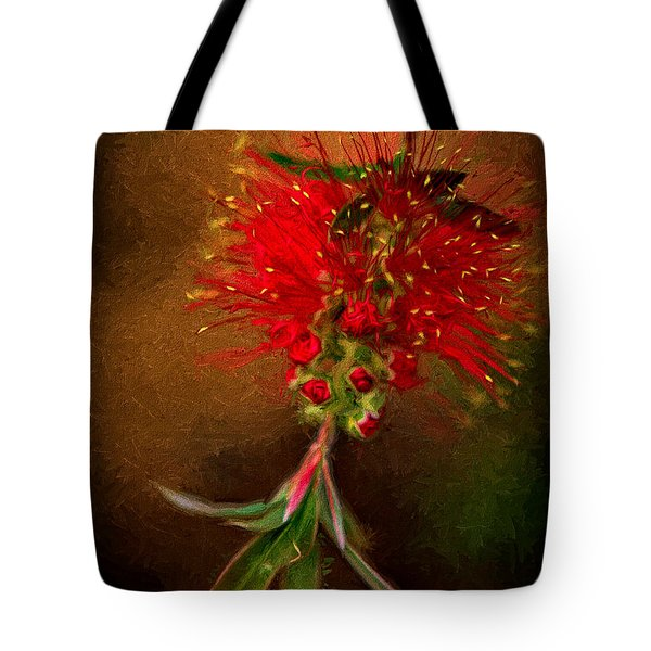 Bottle Brush Flower Tote Bag