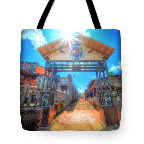 Bottle Cap Alley Tote Bag
