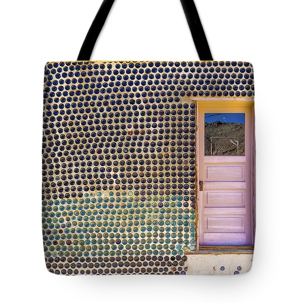 Tote Bag featuring the photograph Bottle House by Laura Roberts