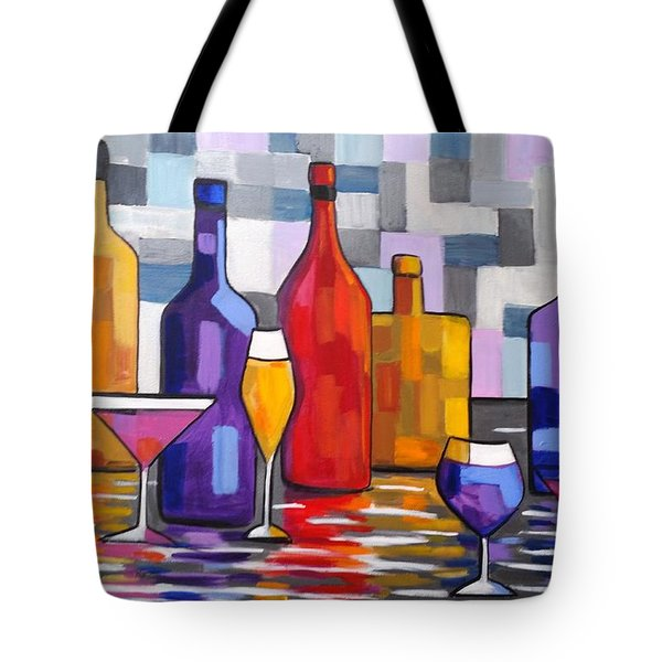 Bottle Of Wine Tote Bag