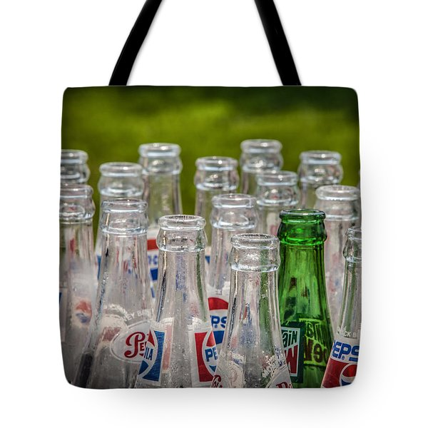 Bottle Tops Tote Bag by Ray Congrove