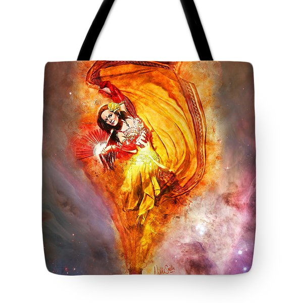 Tote Bag featuring the digital art Bottled Wishes by Nikki Marie Smith