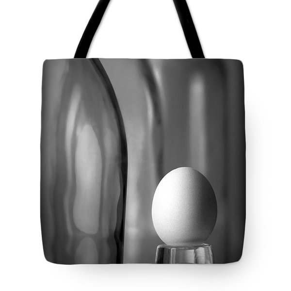 Tote Bag featuring the photograph Bottles And Egg by Joe Bonita