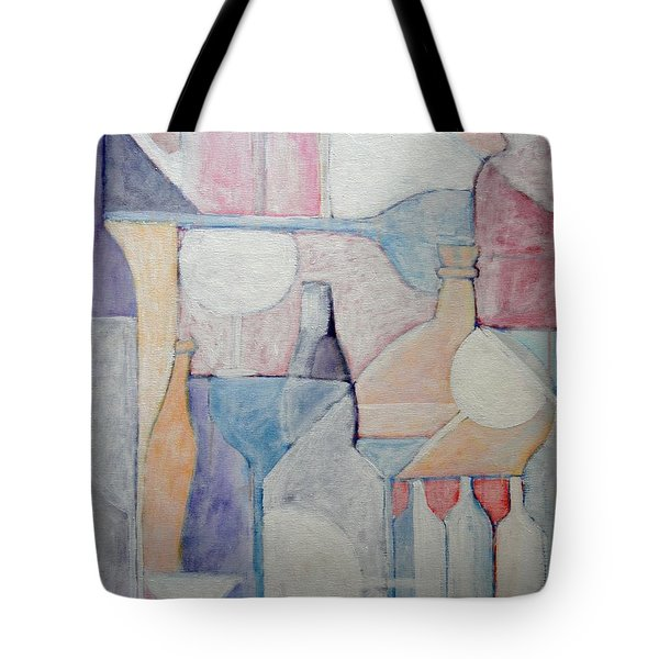 Bottles And Glasses Tote Bag by Ana Maria Edulescu