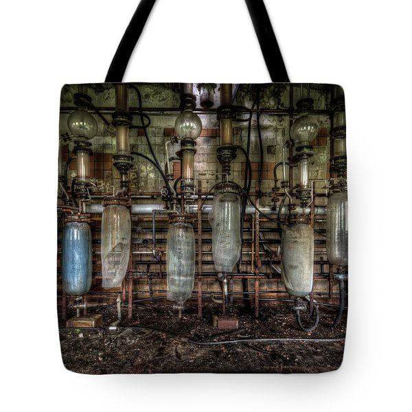 Bottles Hanging On The Wall  Tote Bag by Nathan Wright