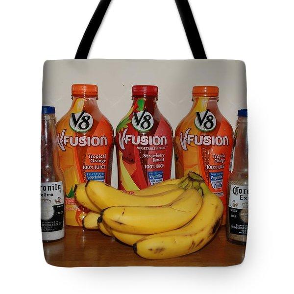 Bottles N Bananas Tote Bag by Rob Hans