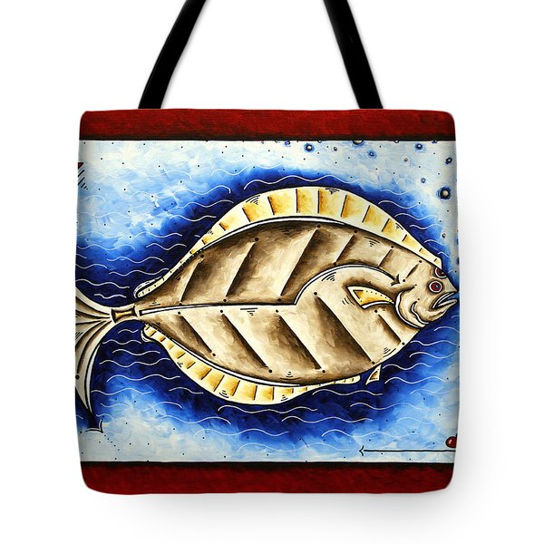 Bottom Of The Sea Creature Original Madart Painting Tote Bag by Megan Duncanson