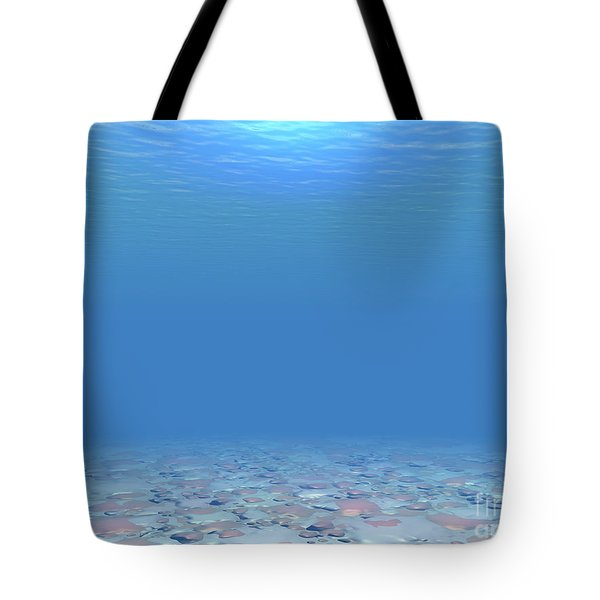 Tote Bag featuring the digital art Bottom Of The Sea by Phil Perkins