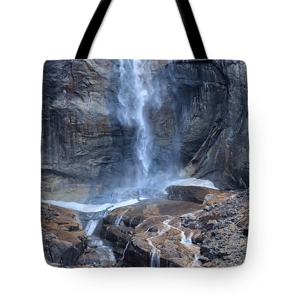 Bottom Part Of Upper Yosemite Waterfall Tote Bag