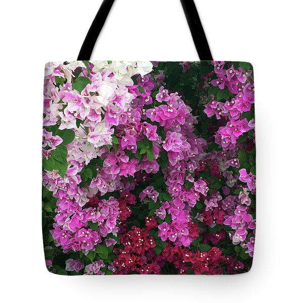 Bougainville Flowers In Hawaii Tote Bag by Karen Nicholson