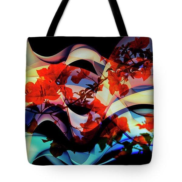 Tote Bag featuring the photograph Bougainvillea At Joe's Secret Garden IIi by Al Bourassa
