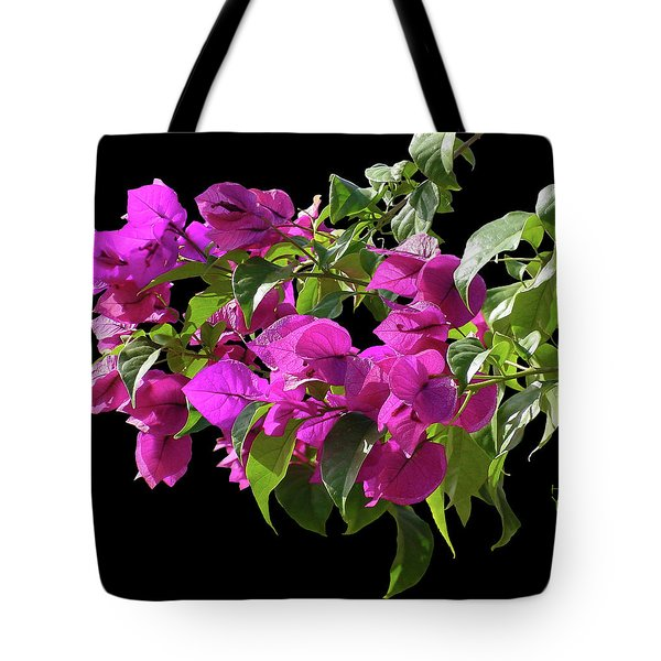 Bougainvillea Cutout Tote Bag by Shirley Heyn