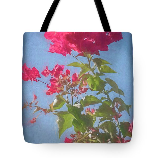 Bougainvillea Morning Tote Bag