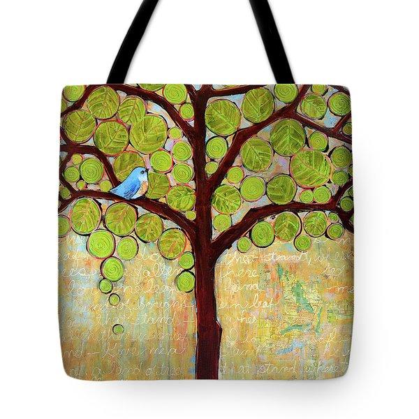 Boughs In Leaf Tree Tote Bag by Blenda Studio