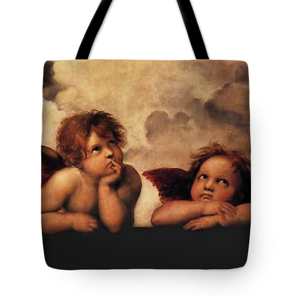 Tote Bag featuring the painting Bouguereau Painting Fresh Paint  by Catherine Lott
