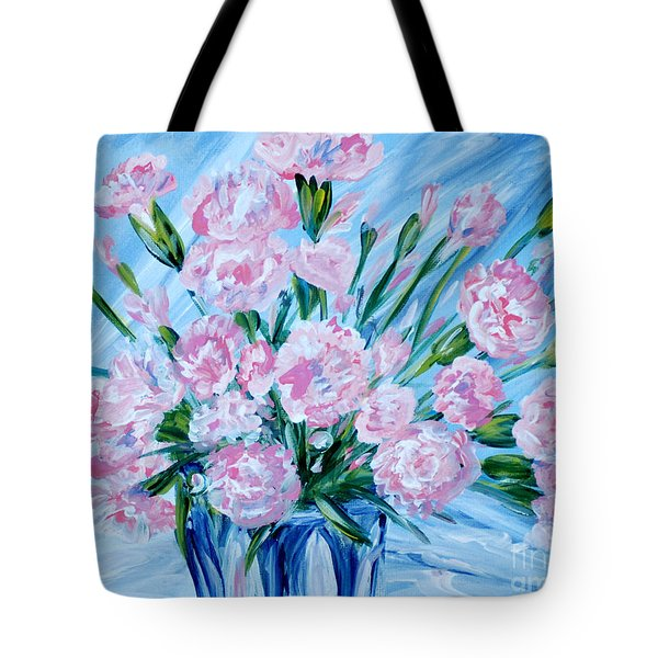 Bouguet Of Carnations.  Joyful Gift. Thank You Collection Tote Bag