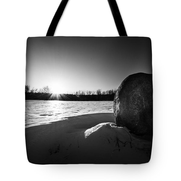 Boulder At Sunset Tote Bag