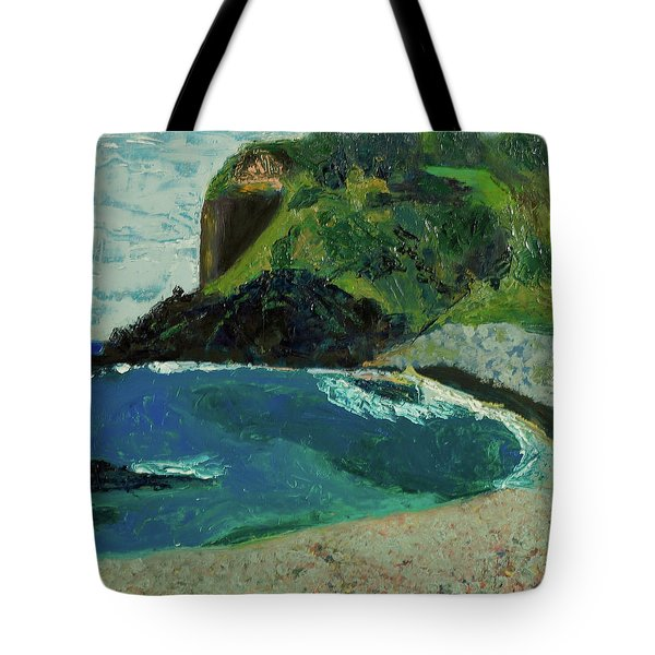 Tote Bag featuring the painting Boulder Beach by Paul McKey