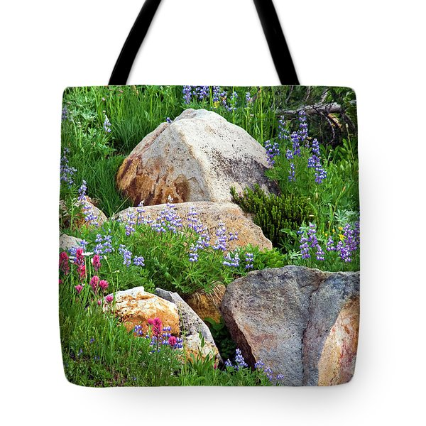 Tote Bag featuring the photograph Boulder Blooms by Marla Craven