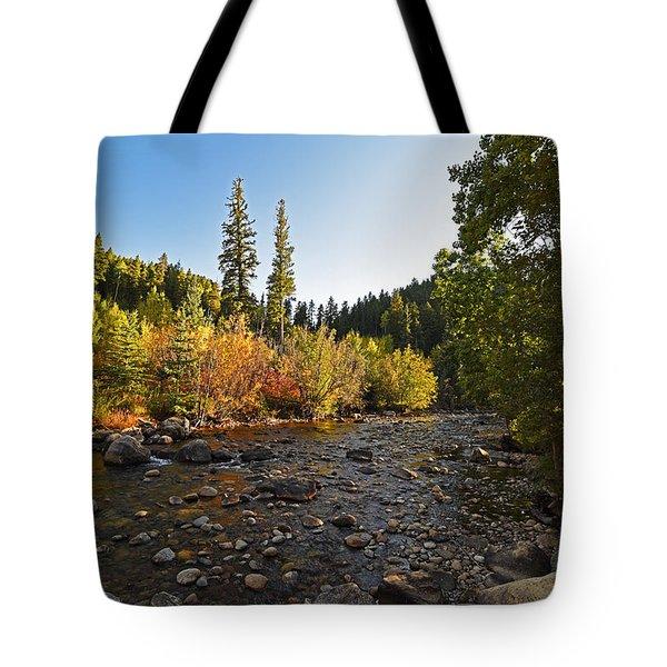 Boulder Colorado Canyon Creek Fall Foliage Tote Bag