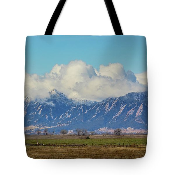 Tote Bag featuring the photograph Boulder Colorado Front Range Cloud Pile On by James BO Insogna