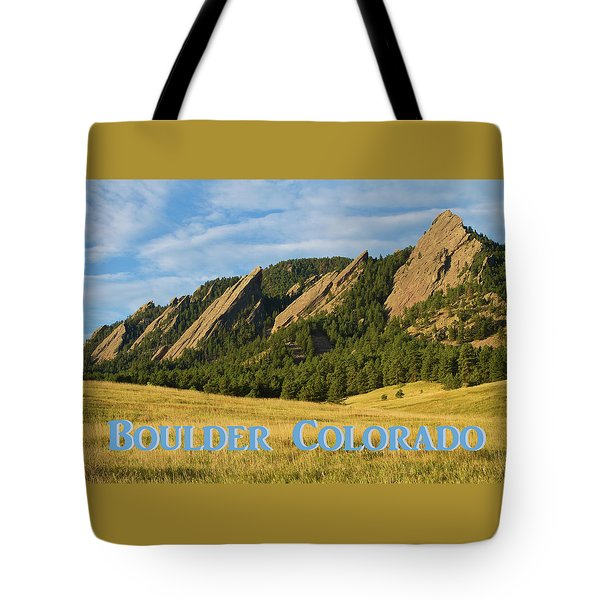 Tote Bag featuring the photograph Boulder Colorado Poster 1 by James BO Insogna