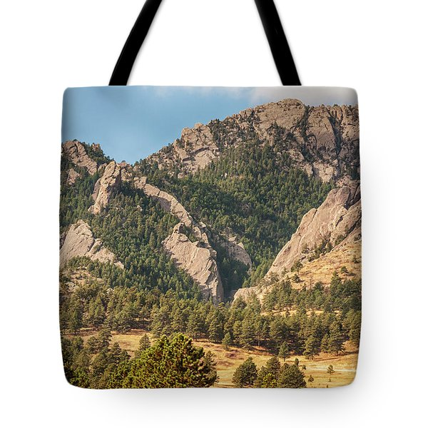 Tote Bag featuring the photograph Boulder Colorado Rocky Mountain Foothills by James BO Insogna
