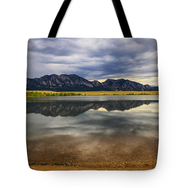 Boulder Flatirons From Marshall Lake Tote Bag