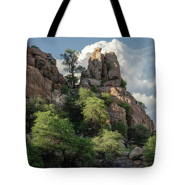 Tote Bag featuring the photograph Boulder Glow by Gaelyn Olmsted