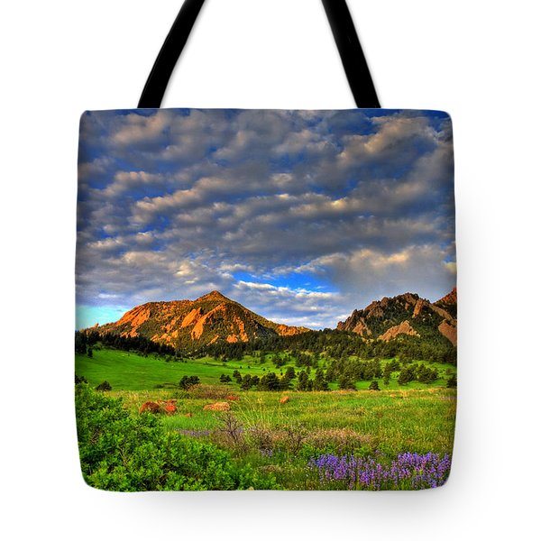 Boulder Spring Wildflowers Tote Bag