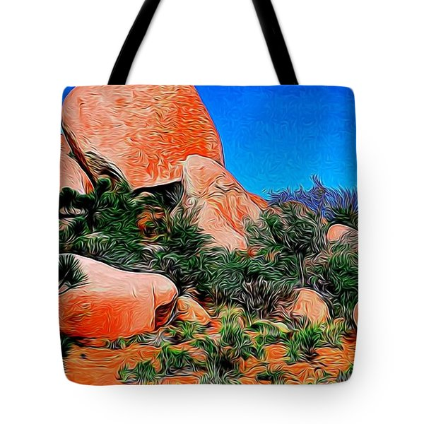 Boulders 7 In Abstract Tote Bag