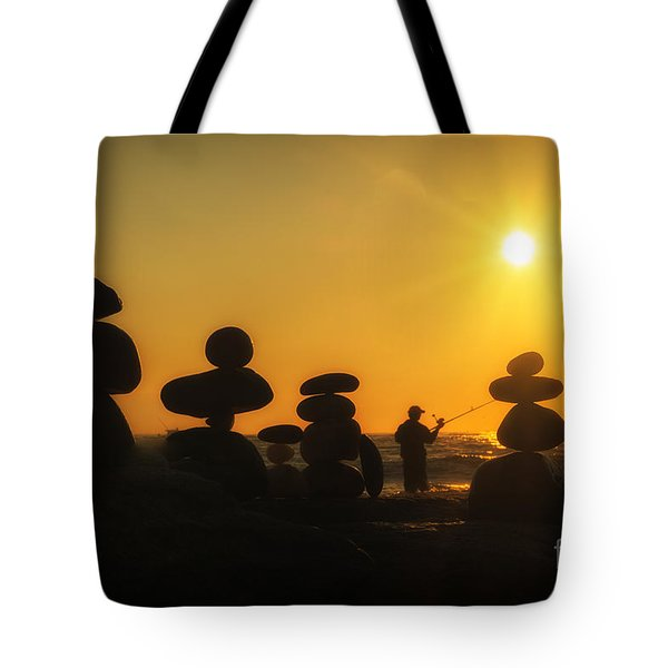 Boulders By The Sea Tote Bag