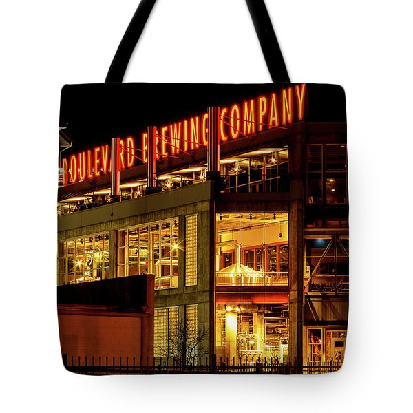 Boulevard Beer Sign Tote Bag by Steven Bateson